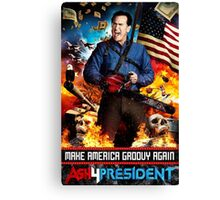 Ash for president Canvas Print