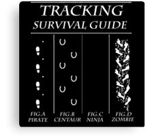 TRACKING SURVIVAL GUIDE Canvas Print
