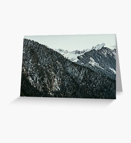 Winter Mountain Closeup Greeting Card