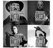 straight outta horror film Poster