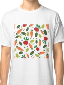Healthy Colorful Vegetables Pattern Classic T-Shirt