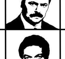 Mustachio Men Sticker