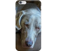 Sleepy Weimaraner iPhone Case/Skin