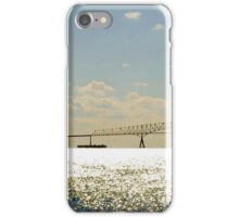 Sailing by Key Bridge at Sunrise iPhone Case/Skin