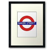 Fandom Tube- Baker Street Framed Print