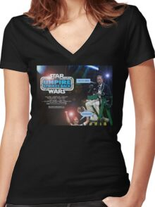 Star Wars - The Umpire Strikes Back Women's Fitted V-Neck T-Shirt