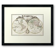 Vintage Map of The World (1775) Framed Print