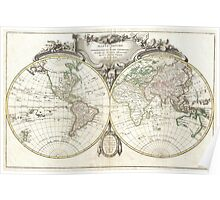 Vintage Map of The World (1775) Poster