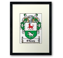 O'Leary Coat of Arms (Cork) Framed Print