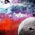 Lunatic Love - The moon and Heart - Grunge Textures by Denis Marsili