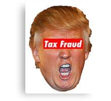 trump tax fraud Canvas Print