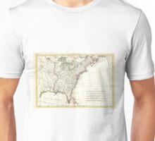 Thirteen Colonies Vintage Map (1776) Unisex T-Shirt