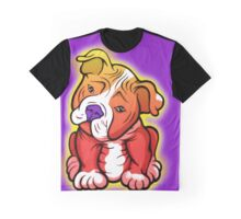 Tilted Head Pit Bull Pup Graphic Graphic T-Shirt