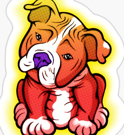 Tilted Head Pit Bull Pup Graphic Sticker