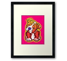 Tilted Head Pit Bull Pup Graphic Framed Print