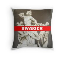 greek Swaeger Throw Pillow