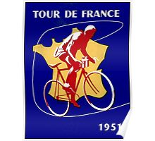 TOUR DE FRANCE; Vintage Bicycle Racing Advertising Print Poster