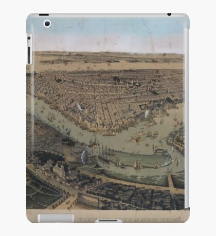 081 Brooklyn Bird's eye view of the City of New York Williams Burg iPad Case/Skin