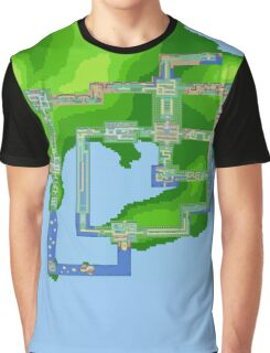 Kanto Map Graphic T-Shirt