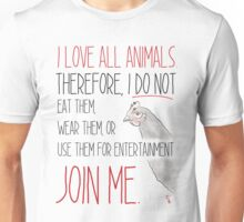 Love All Animals - White Unisex T-Shirt