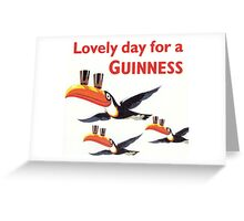 Vintage Guinness Beer Ad 4 Greeting Card
