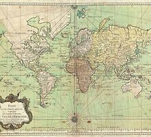 Vintage Map of The World (1778) by BravuraMedia