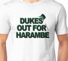 Dukes out for harambe Unisex T-Shirt