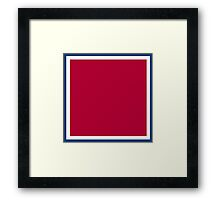 Red with White and Blue Trim Framed Print