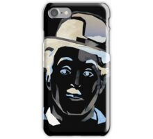 Charles Chaplin (negative colors) iPhone Case/Skin