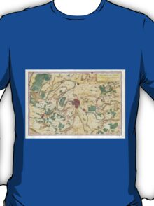 Vintage Map of Paris and Surrounding Areas (1780) T-Shirt