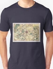 Vintage Map of Paris and Surrounding Areas (1780) Unisex T-Shirt