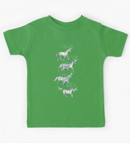 Unicorns and Stars on Soft Grey Kids Tee