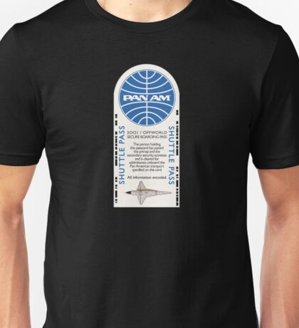 2001 A Space Odyssey Clipper Orion boarding pass Unisex T-Shirt