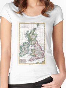 Vintage Map of British Isles (1780) Women's Fitted Scoop T-Shirt