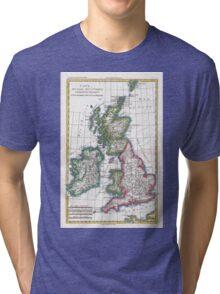 Vintage Map of British Isles (1780) Tri-blend T-Shirt