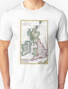Vintage Map of British Isles (1780) Unisex T-Shirt