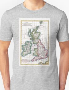 Vintage Map of British Isles (1780) Unisex T-Shirt