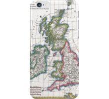 Vintage Map of British Isles (1780) iPhone Case/Skin