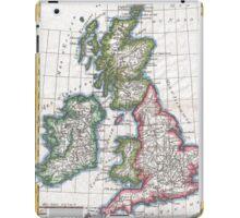 Vintage Map of British Isles (1780) iPad Case/Skin