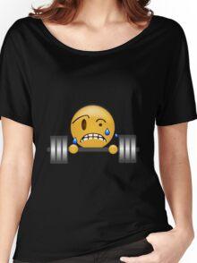Emoji - Gym Weight Lifting Gainz Emoji Women's Relaxed Fit T-Shirt