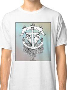 Anchor Through Diamond, Old School - HJS Classic T-Shirt