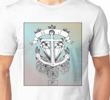 Anchor Through Diamond, Old School - HJS Unisex T-Shirt