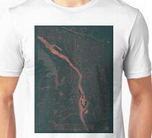 Portland Map Red Unisex T-Shirt