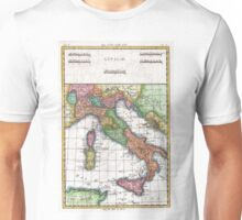 Vintage Map of Italy (1780) Unisex T-Shirt