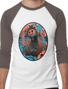 Halloween screen print  Men's Baseball ¾ T-Shirt
