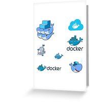 docker sticker set Greeting Card