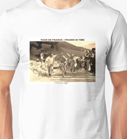 TOUR DE FRANCE; Vintage Frozen in Time Advertising Photo Unisex T-Shirt