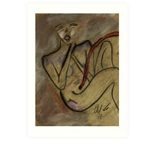 Fetus Woman Art Print