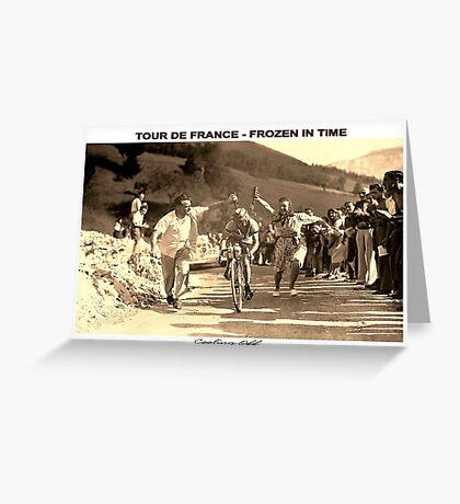 TOUR DE FRANCE; Vintage Frozen in Time Advertising Photo Greeting Card