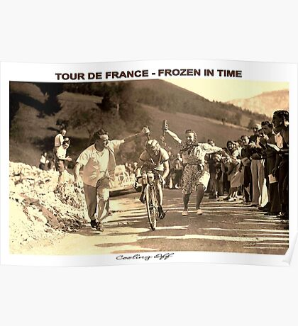 TOUR DE FRANCE; Vintage Frozen in Time Advertising Photo Poster